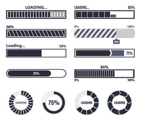 Loading bar elements Ilustrace