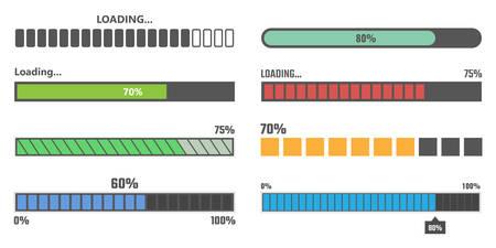 loading bar vector illustration. Ilustrace