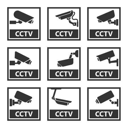 security camera sign, cctv stickers, video surveillance