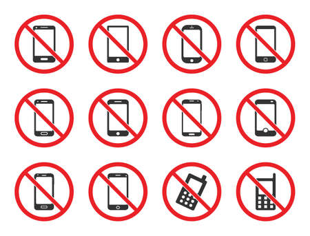 no cell phone sign, mobile phone prohibited