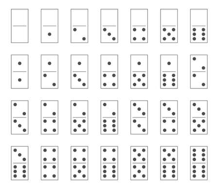 Dominoes tiles set, domino bones full set