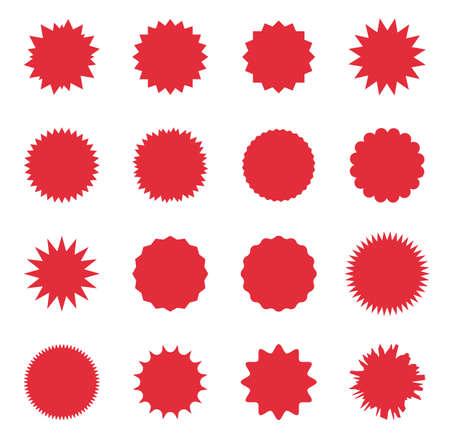 Sunburst-Verkaufsabzeichen, Promo-Verkauf Starburst-Label, Sonderangebots-Tag
