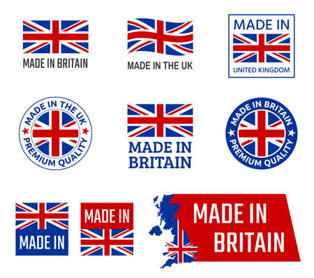 made in United Kingdom, Great Britain product emblem Zdjęcie Seryjne - 123286455