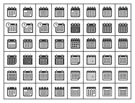 calendar icons, vector calendar sign set Zdjęcie Seryjne - 124084091