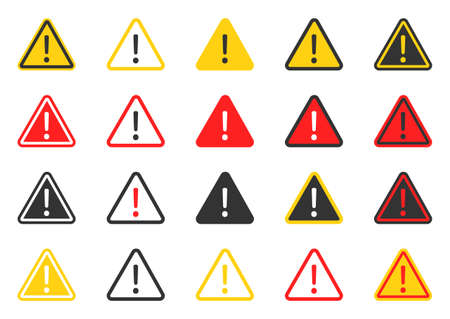 signs warning of the danger, caution icon set, hazard warning attention sign