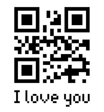 Qr code sample with text I love you