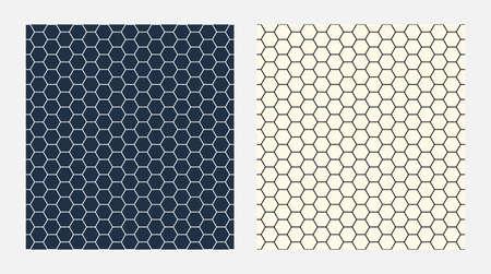 Abstract geometry hexagon seamless pattern, hexagonal net background