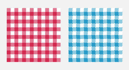 Checkered tablecloth seamless pattern, table cloth texture design Çizim
