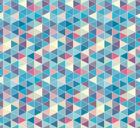 abstract triangle seamless pattern, isometric grid background Çizim