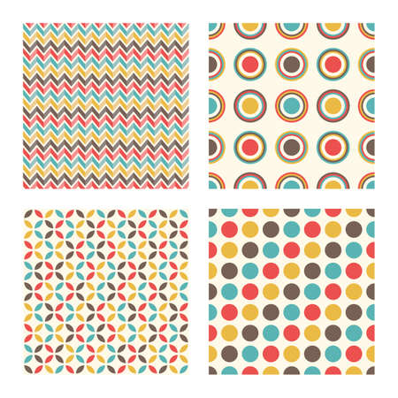 abstract geometric retro pattern, vintage design seamless background Çizim