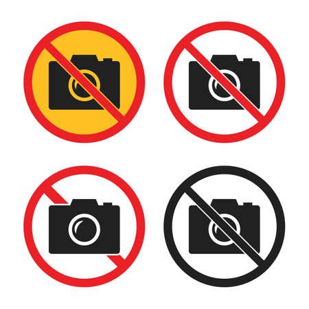 no camera icons set, no photo signs