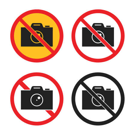 no photography icons, no camera sign set