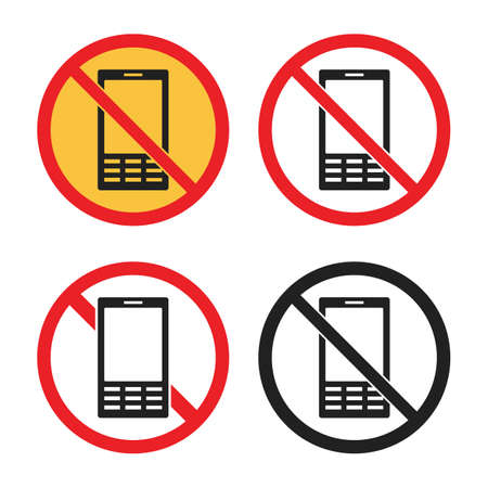 no cell phone icons, no mobile phone sign Çizim