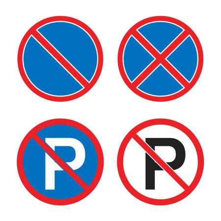 no parking or waiting road sign, no stopping