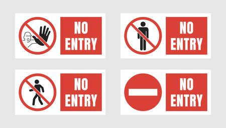no entry label set, no access signs