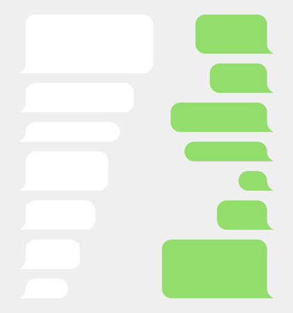 Message bubbles chat template set, smart phone sms message clouds  イラスト・ベクター素材