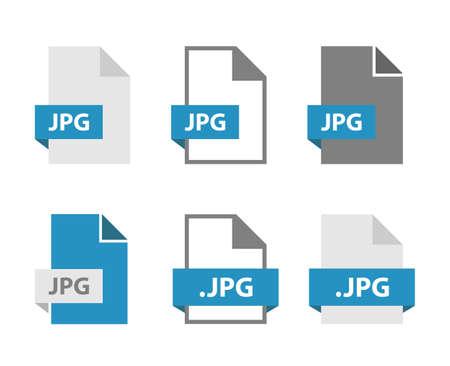 JPG files document icon set, JPG file format sign