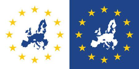 european union map sign, eu made label