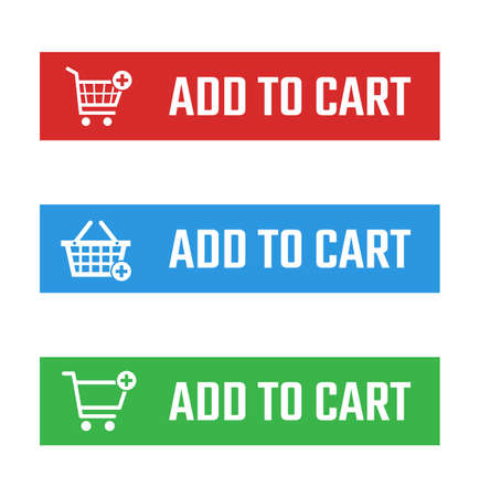 add to cart button set, shopping trolley signs