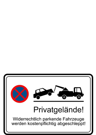 parking is prohibited: Parking prohibited Warning sign
