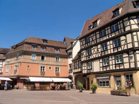 Colmar in France, old customs, place