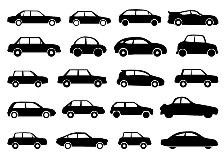 shadowgraph: vectorgraphic cars for street signs