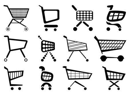 icons and vectors for the webpage Ilustração