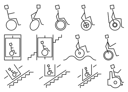 unable: a chair fitted with wheels for a person who is unable to walk