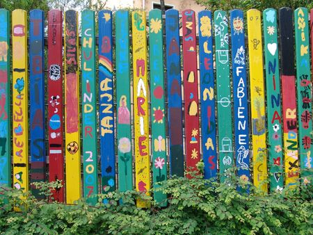first day of school and my name on a fence