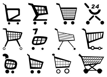 via: shopping via the Internet, shopping on the Internet Illustration