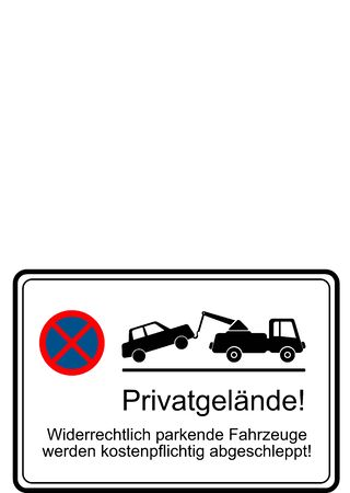parking is prohibited: private property parking prohibited