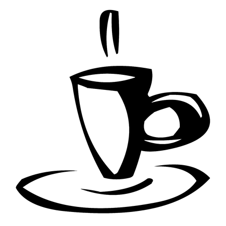 shadowgraph: coffee cup as clipart