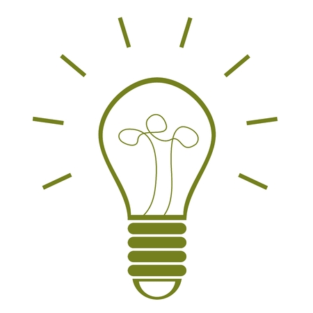 Save energy with efficient light bulb Illustration