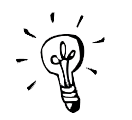 shadowgraph: Save energy with efficient light bulb Illustration