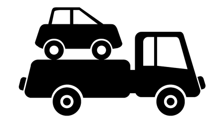 scrap iron: car drives on junkyard