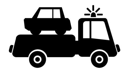 scrap metal: car drives on junkyard