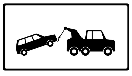 car breakdown: towing a car with vehicle breakdown