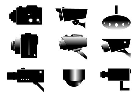 proces van observeren met een bewakingscamera