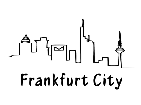 A drawing of Frankfurt City 版權商用圖片 - 47904018