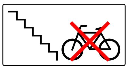 please, leave this bicycle not here sign illustration