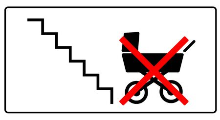 please, leave this stroller not here 向量圖像