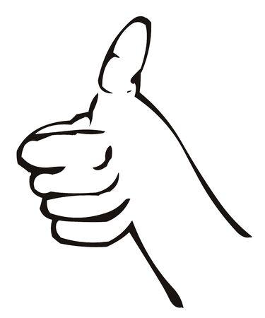 thumbs up, everything is okay 版權商用圖片 - 54023419