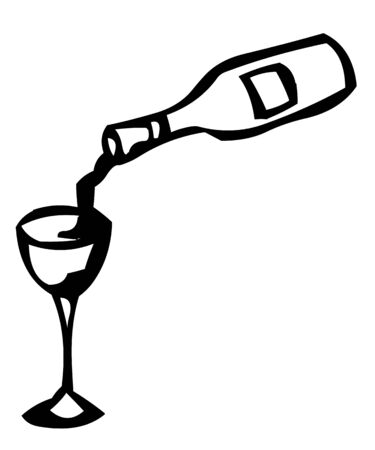 raceme: Red wine is poured into a glass of red wine