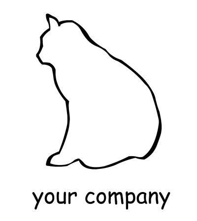 specter: outline of a black cat