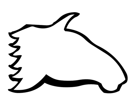shadowgraph: Horsehead a clip icon in vector Illustration
