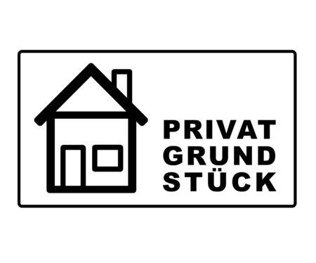 Caution private property trespassing 向量圖像