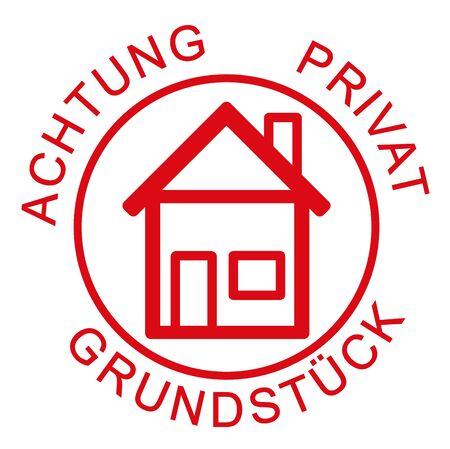 private: Caution private land