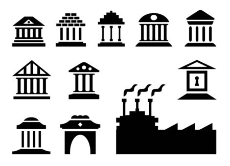 reckoning: Bank icon as clip art