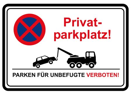 private parking zone 版權商用圖片 - 61564519