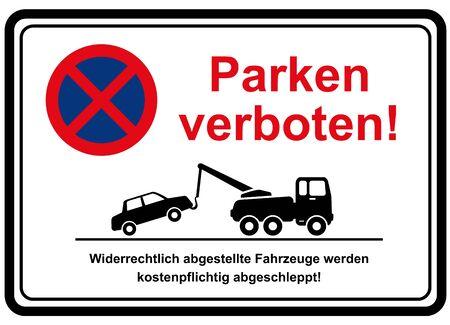 no-parking zone 向量圖像